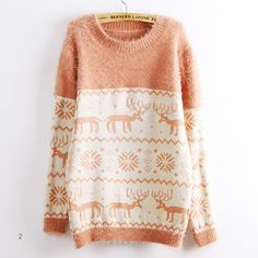Deer Snowflake Round Neck Sweater For Women from Showmall on Storenvy Winter  Sweaters 5a7d1af3a