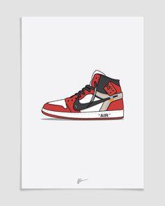san francisco 08b8f da4ec Image of Off-White x Jordan 1 Sneaker Posters, Shoes Vector, Hypebeast  Wallpaper
