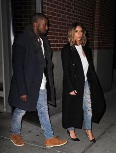 November 20, 2013 - Kim Kardashian and Kanye West out in NYC.