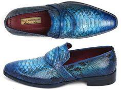 Paul Parkman Genuine Python Loafers Turquoise (ID#11TRQ77)