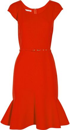 Oscar De La Renta Double-faced Stretch-wool Dress
