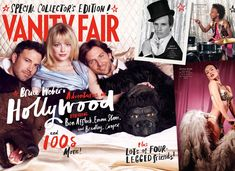 Ben Affleck, Emma Stone, and Bradley Cooper on Vanity Fair's Hollywood Cover 2013 with stars like Eddie Redmayne, Quvenzhane Wallis, and Olivia Wilde on the inside pages