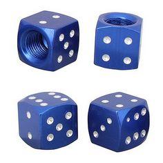 blue dice valve caps