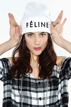 Brian Lichtenberg Féline Beanie - White