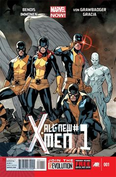 The cover to All-New X-Men #1, art by Stuart Immonen, Wade von Grawbadger, & Marte Gracia