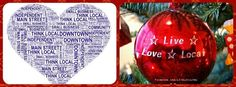 Go Independent, Shop Small (Anywhere USA)... - Go Independent, Shop Small (Anywhere USA) Buy Local, Main Street, Christmas Bulbs, Holiday Decor, Handmade, Support Local, Usa, Shop, Craft
