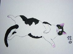 chinese cat painting
