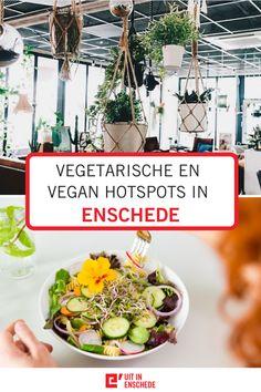 Woon je in Enschede of ben je hier op bezoek voor een dagje uit of weekend weg? Bij deze hotspots in Enschede kun je vegetarisch en/of vegan eten! Enschede barst vol vegetarische hotspots voor zowel lunch als diner. - Food | Tips | City guide | Blog | Restaurants | Lunch | Diner | Ontbijt | Stedentrip | Citytrip | Uit eten | Overijssel | Twente | Instagram | Gids | Reisblogger | Reisblog | Winkelen | Shoppen | Eten | Veganistisch | Vegan | Vegetarisch | Gezond | Centrum | Dagje uit | Weekend Restaurant, Plants, Salads, Diner Restaurant, Plant, Restaurants, Planets, Dining