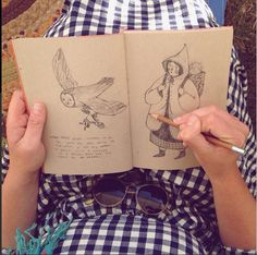 Me drawing at the Common Ground Fair on Saturday. Thanks so much to all who came by the Taproot booth to say hello! I had a lovely time. Illustration Inspiration, Sketchbook Inspiration, Children's Book Illustration, Art Sketchbook, Pretty Art, Cute Art, Character Art, Character Design, Aesthetic Art