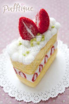 Strawberry Slice Cake by li-sa on deviantART
