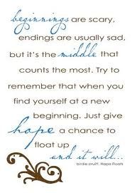 hope floats :) this is and always will be my favorite quote :)
