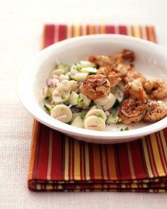 Seared Shrimp with Cucumber Salad Recipe
