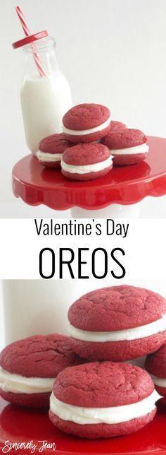 Valentine's Day Oreos - Simple dessert for Valentine's Day! | http://www.SincerelyJean.com