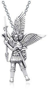 Bling Jewelry Guardian Angel St. Michael The Archangel Sterling Silver Pendant.