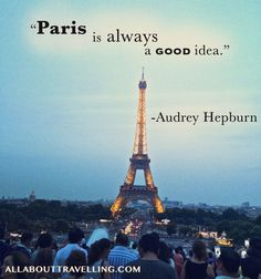 The Eiffel Tower in Paris *Photo cred to Jessica's younger sister, Natasha Paris Quotes, Paris Eiffel Tower, Ecommerce Hosting, Audrey Hepburn, Travel Quotes, Paris Skyline, Sisters