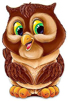 Совёнок - Схемы вышивки - Miss_Ikss - Авторы - Портал «Вышивка крестом» Owl Clip Art, Owl Art, Cartoon Cartoon, Cartoon Drawings, Baby Animals, Cute Animals, Owl Pictures, Beautiful Owl, Cute Clipart