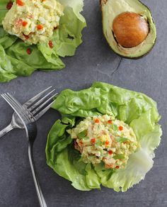 Creamy Avocado Sriracha Egg Salad | runningtothekitchen.com