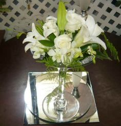 Flowers in a Martini Glass | Vase martini glass, 20x25cm, for hire $6.00 for sale $35.00
