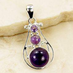 Purple Sonata Amethyst Pendant & .925 Sterling by TheSilverPlaza