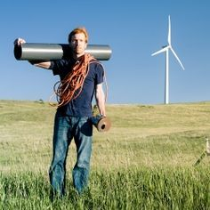 Home made wind turbine - built with locally sourced materials. Can be put one together in a weekend to start enjoying some clean energy.