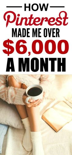 How she made Pinterest her full-time job is the best! I'm so happy I found this AMAZING post! How she was able to work from home and make $6k a year is incredible! I'm SO pinning for later!