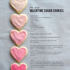 "cupcakesandcurlsyyc: ""Found a delicious sugar cookie recipe for Valentine's Day!! It's only 9 days away!! """