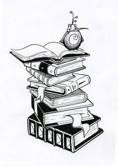 Something like this for my book tattoo. ooo I need a book tattoo! Stack Of Books, I Love Books, My Books, Future Tattoos, New Tattoos, Tatoos, Tatuaje Game Of Thrones, Literary Tattoos, Tattoo Outline