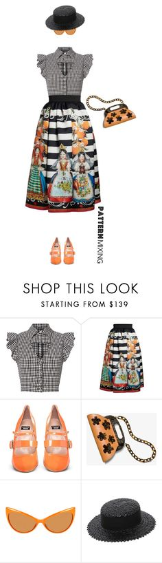 """""""Untitled #1321"""" by montse-gallardo ❤ liked on Polyvore featuring Marissa Webb, Dolce&Gabbana, Boutique Moschino, Michael Kors, Tom Ford, Eugenia Kim and patternmixing"""