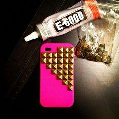 DIY Stud Phone Case.