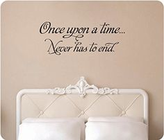 Wall Decal Sticker Quote Vinyl Art Lettering Once Upon a Time Love Fairytale L25