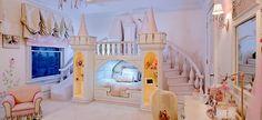 The custom woodwork in this princess room is out of this world. The custom woodwork in this princess room is out of this world. The custom woodwork in this princess room is out of this world. Dream Rooms, Dream Bedroom, Girls Bedroom, Bedroom Decor, Castle Bedroom, Fairytale Bedroom, Bedroom Furniture, Childs Bedroom, Kid Bedrooms