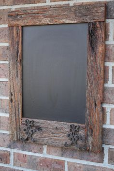 Oak Reclaimed Barn Wood Chalkboard with 2 by timelessjourney, $45.00