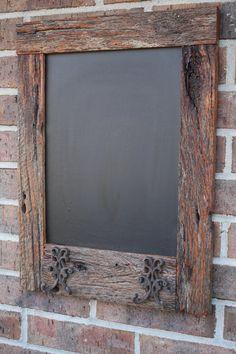 Oak Reclaimed Barn Wood Chalkboard with 2 by timelessjourney, $45.00