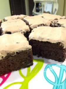 Protein brownies INGREDIENTS:  For the Brownies: ◾1/2 Large Florida Slimcado (230g) ◾2 cups Goya Dry Black Beans ◾3 Egg Whites ◾1 cup Ghirardelli Unsweetened Baking Cocoa ◾1/4 cup baking Stevia ◾1 scoop Whey Protein (I used Gaspari Nutrition PB Cookie Dough) ◾1 tsp Extra Virgin Coconut Oil ◾1/2 tsp Baking Powder ◾1/2 tsp Baking Soda ◾ 4 tsp Vanilla Extract ◾1/2 tsp Almond Extract (THE SECRET!!!)     For the Icing: ◾1/2 cup Vanilla 0% Greek Yogurt ◾2 Tbsp Chocolate PB2