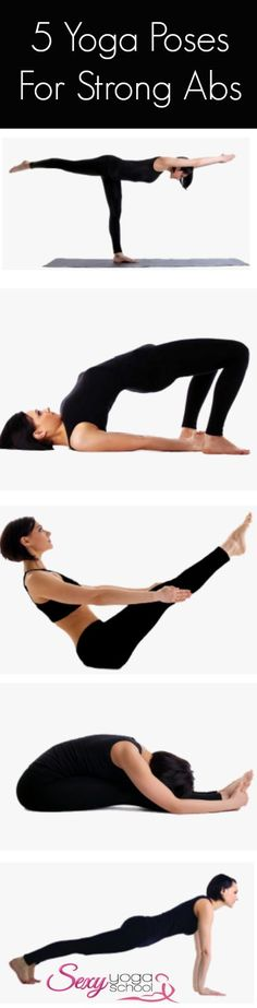 5 yoga poses for strong abs and core #abs #core
