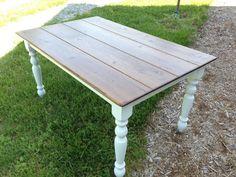 Distressed Farmhouse Table Kitchen Table by FarmTablesPlusMore
