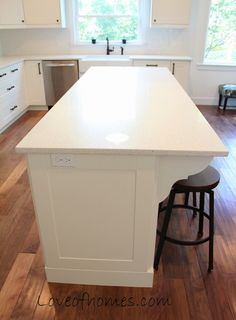 Kitchen Remodel {REVEAL} corbels in the kitchen island.