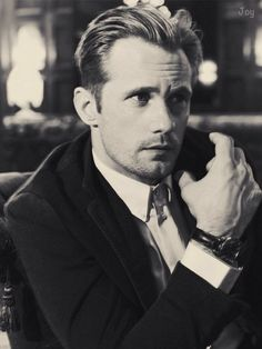 2) Alexander Skarsgård in Man of the World magazine (issue #16). Photographed by Guy Aroch. my digital scan