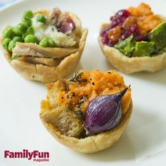 Personal Potpies: Transform surplus stuffing, side dishes, and other Turkey Day leftovers into muffin-size morsels that can be customized to suit individual tastes.