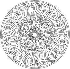 Solar Flare Mandala