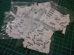 Name labels: things can get mixed or lost, so it will be easier if they are labeled  ,e.g. stationary and even toys