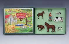 NEW! Herald Farm Box Set, Farmer, 7 Pieces SOLD, Herald Toys And Models