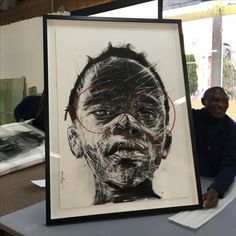 Nelson Makamo by NB Art and Framing, Contemporart Art, Charcoal, Conservation Framing, South African Art Framed Art, Art Projects, Painting, Art, South African Art, Portrait Painting, Canvas Painting, Paper Art, Love Art