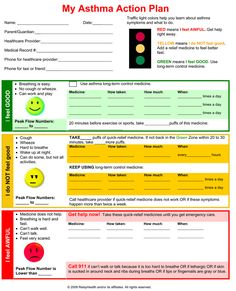 Asthma action plan | School Nursing: Asthma and Kids | Pinterest ...