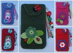 Fundas para celular a crochet