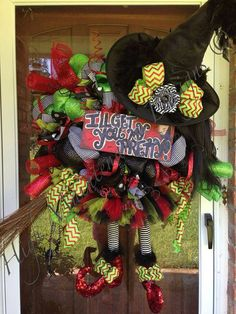 Wicked Witch of the West Wreath  by HighMaintenanceDes on Etsy