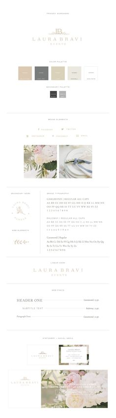 Laura Bravi Branding for Event Planning Business With Grace and Gold…