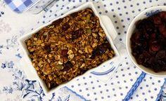 Domácí skořicová granola Clean Eating, Healthy Eating, Granola, Vegan, Desserts, Recipes, Food, Healthy Meals, Meal