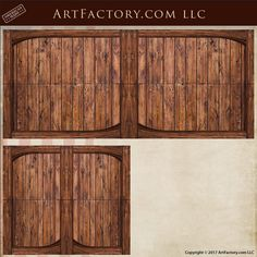 This Solid Wood Folding Garage Door Is An Original Design By Artist H.J. Nick, Handmade By Master Craftsman Using Mortise And Tenon, Pegged And Doweled Construction All Of Our Custom Garage Doors Meet World Class Fine Art Standards And Are Guaranteed To Last Forever Garage Gate, Custom Garage Doors, Custom Wood Doors, Wood Garage Doors, Garage Door Design, Wood Front Doors, Custom Gates, Carriage Doors, Roll Up Doors