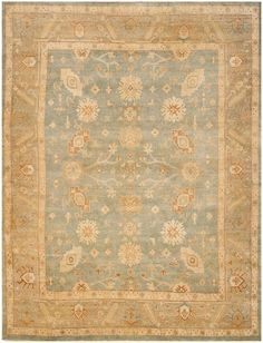Oushak Rug (also called Ushak): Origin: Uşak, Turkey Size: Medium to large Colors: Silky, shimmery wool in shades of cinnamon, terracotta, grey, and soft pastels Design: Large-scale geometric floral patterns